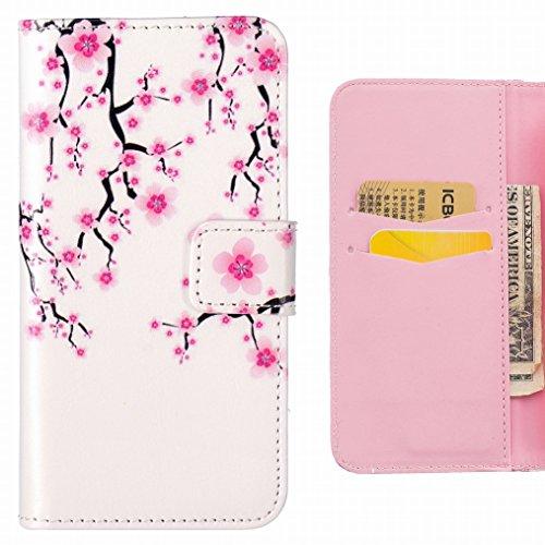 LEMORRY Huawei P9 Lite Custodia Pelle Cuoio Flip Portafoglio Borsa Sottile Fit Bumper Protettivo Magnetico Chiusura Standing Card Slot Morbido Silicone TPU Case Cover Custodia per Huawei P9 Lite, Plum