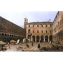 """Canaletto Campo di Rialto - 16.1"""" x 24.1"""" Premium Canvas Print Gallery Wrapped"""