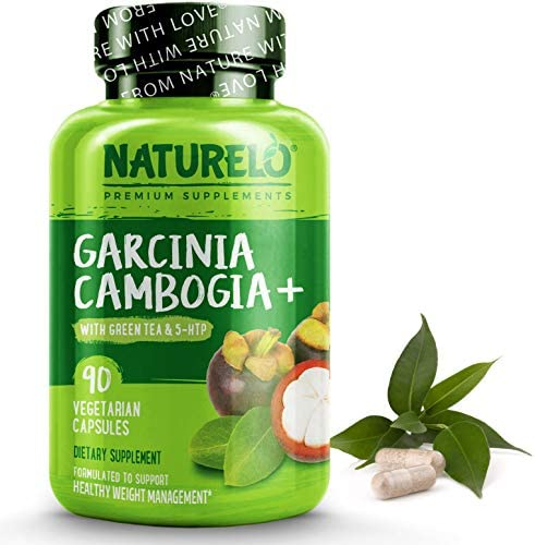 NATURELO Garcinia Cambogia Weight Loss Management – 100 Natural Supplement with Pure Garcinia Cambogia, Ketones, Forskolin, Green Tea, Guarana – Thermogenic Fat Burner – 90 Vegan Capsules