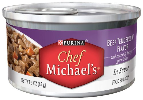 Chef Michael's Beef Tenderloin Flavor, 3-Ounce (Pack of 24), My Pet Supplies