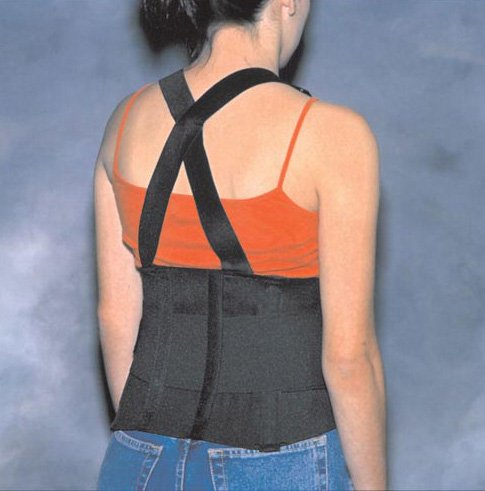 SPECIAL PACK OF 3-Back Support Industrial W/ Suspenders X-Lrg 45-49 by Marble Medical