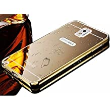 Galaxy Note 3 Cell Phone Case,Vandot Premium Ultra Slim Thin Metal Aluminum Bumper Frame Bling Shiny Mirror PC Hard Back Case Cover Anti-scratch Shockproof Protective Skin Shell For Samsung Galaxy Note 3 N9000 N9005-Gold