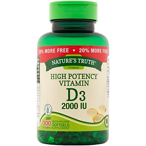 Nature's Truth Vitamin D3, 2,000 IU, Bonus, 250+50 Count