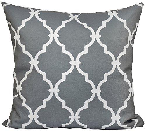 e by design pg-n6-grey-16celosía almohada decorativa, Gris