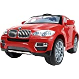 Huffy BMW X6 6-Volt Battery-Powered Ride-On, Red - Maximum speed: 2 mph - BMW ride-on toy has a limited lifetime warranty