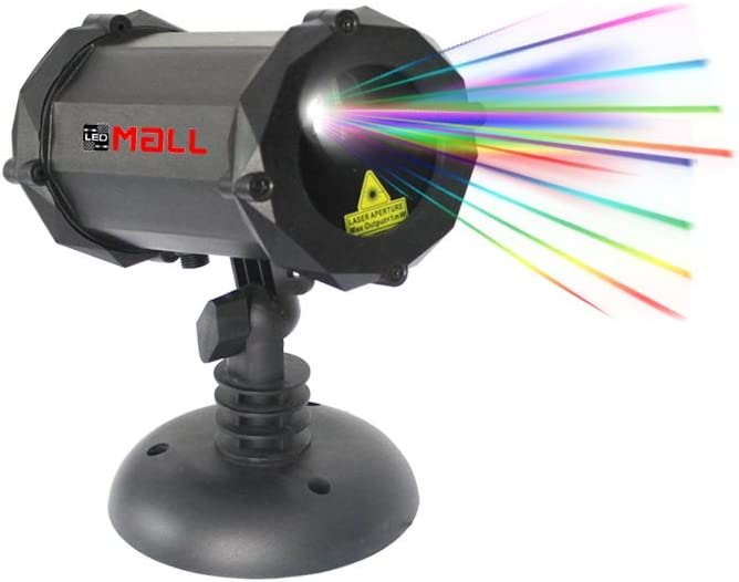 LedMAll Bluetooth Motion Full Spectrum 7 Color White Star Effects Laser Christmas Decorative Lights Remote Control