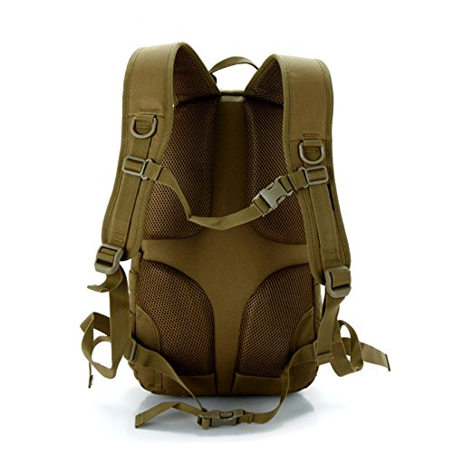 4a219ab9a6f6 Amazon.com   LEMONBEST 20L WARGAME Outdoor Backpack Traveling Exploration Backpack  Daypack Brown   Sports   Outdoors