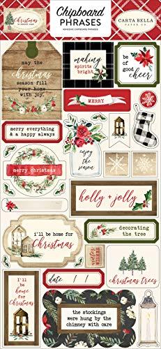 Carta Bella Paper Company CBCH89022 Christmas 6x12 Phrases chipboard Red/Green/Black/Tan by Carta Bella Paper Company (Image #1)