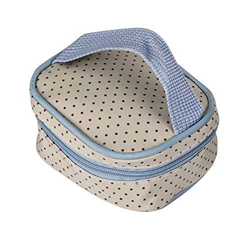 Win8Fong 5-in-1 oso de peluche para el hombro y cambiador para pañales resistente tiene un diseño de bolsa aislante para diseño de bebé pañal para Mummy bolsas de azul claro