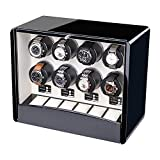 New automatic watch winders for 8 watches, Crystal button, 3 kinds of power supply, 4 Timer Programs - 422335cm , white