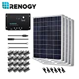 Renogy 400 Watts 12 Volts Polycrystalline Solar Starter Kit with Wanderer (Negative Grounded)