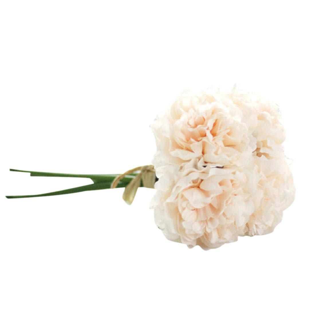 Fake Flower,Lovewe Artificial Silk Fake Flowers,Peony Floral Wedding Bouquet,Bridal Hydrangea Decor,Wedding Decoration (C)