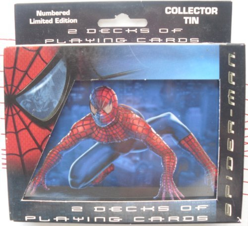 Spider-Man Movie 2 Decks of Playing Cards in Collector Tin 2002