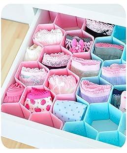 ShopAIS Set Of 8 Multi Purpose Plastic Drawer Organizer Partition Box Standard Size Multicolour