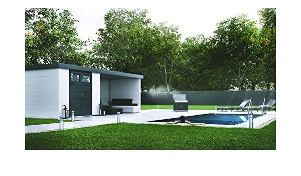 NOVO HABITAT Caseta de Jardin metálica NH7 con Apoyo | Blanco | (298 x 238) + (284 x 238): Amazon.es: Jardín
