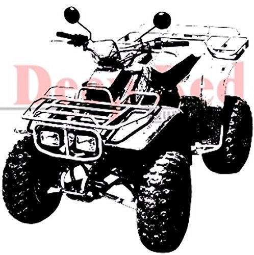 Deep-Red-Cling-Rubber-Stamp-Rubber-Stamp-4-Wheeler-ATV