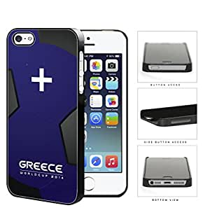 Greece World Cup 2014 Soccer Ball Hard Plastic Snap On Cell Phone Case Cover iPhone 5 5s