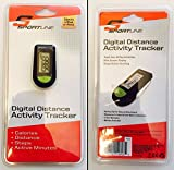 Sportline Digital Distance Tracker Pedometer, Black