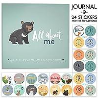 First Year Baby Memory Journal Book + Bonus Monthly Milestone Stickers. Baby ...