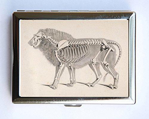 Amazon Com Animal Anatomy Lion Skeleton Cigarette Case Wallet