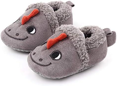 Newbon Infant Baby Boy Girl Cartoon Animal Image Shoes Toddler Anti-Slip Shoes