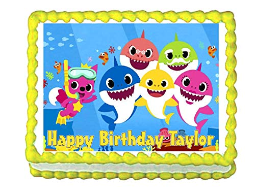 Cakes for Cures Baby Shark Edible Cake Image Party Decoration Frosting Topper