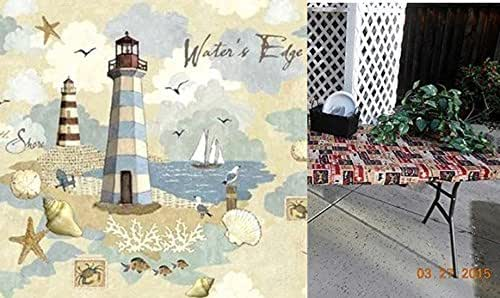 Amazon Com Custom Fitted Stay Put Lighthouse Tablecloth