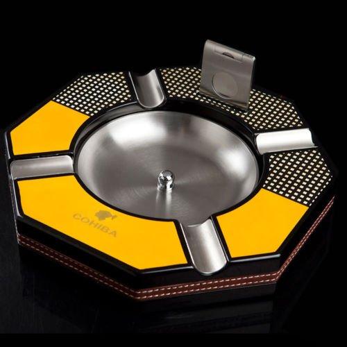 COHIBA/喫煙具/葉巻/シガーアシュトレイ/シガーカッター/灰皿/Cohiba High Temperature Paint Wooden Metal Detachable Bowl Cigar Ashtray Cutter B077X5PX1H