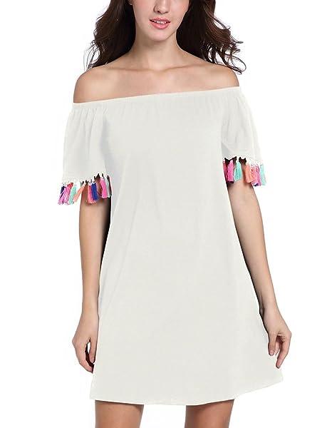 premium selection c8470 108b9 Battercake Donna Vestiti Estivi Corti Elegante Fashion ...