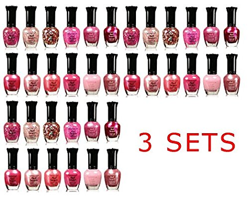 Kleancolor Collection - Awesome Pink Colors Assorted Nail Polish 12pc Set… (Pink Collection)
