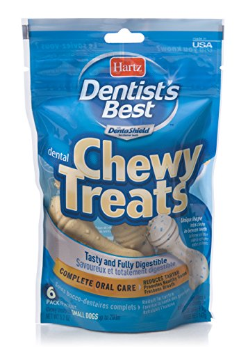 Flavored Chewy Dog Treats - Hartz Dentist'S Best Beef Flavored Chewy Dental Dog Treats - Small, 6 Pack