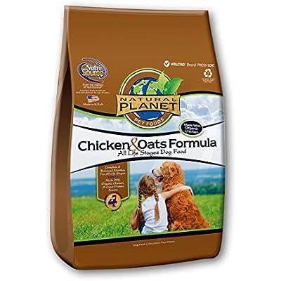 Natural Planet Organics Chicken & Oats Adult Dog Formula Dry Food, 5-Pound Bag