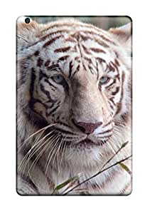 Durable Protector Case Cover With White Bengal Tiger Hot Design For Ipad Mini/mini 2