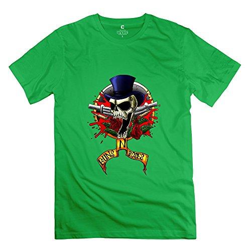 ForestGreen Guns N Roses O-Neck T Shirt For Size XXL