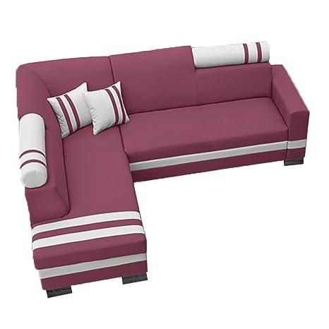 Divano letto ad angolo R1, divano moderno, con poggiatesta, per ...