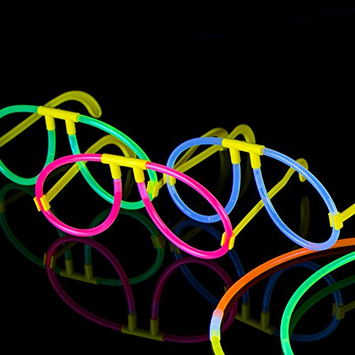 100-Glow-Stick-Party-Pack-100-Mixed-Color-8-Premium-Glowsticks-with-Connectors-to-Make-Bracelets-Glasses-Flowers-Balls-and-More-Bulk-Wholesale-Pack