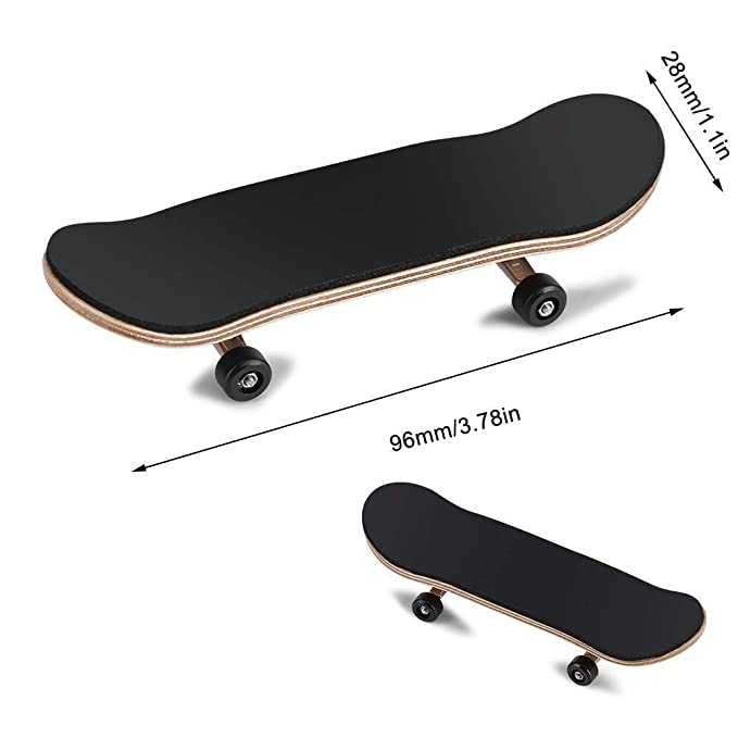 Fingerboard Finger Skateboards, Mini diapasón, Patineta de dedos profesional para Tech Deck Maple Wood DIY Assembly Skate Boarding Toy Juegos de ...
