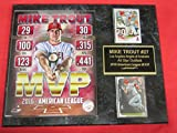 Mike Trout Anaheim Angels 2 Card Collector Plaque w/8x10 2016 MVP Photo!