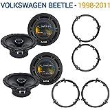 Fits Volkswagen Beetle 1998-2011 Factory Speaker Upgrade Harmony (2) R65 Package New
