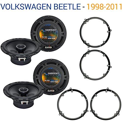 Fits Volkswagen Beetle 1998-2011 Factory Speaker Upgrade Harmony (2) R65 Package ()