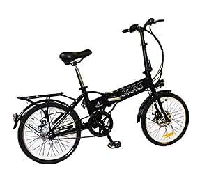 Bicicleta eléctrica plegable con motor de 250w, velocidad máxima 25 km/h y ruedas 20''x1,75 (AZUL OSCURO)
