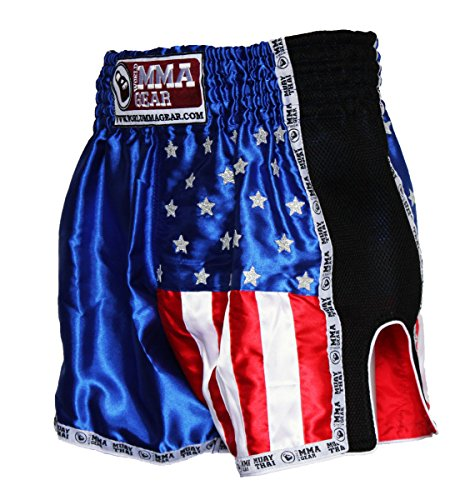 World MMA Gear Premium Muay Thai Shorts by Handmade Retro - Kickboxing, MMA, Thai Boxing