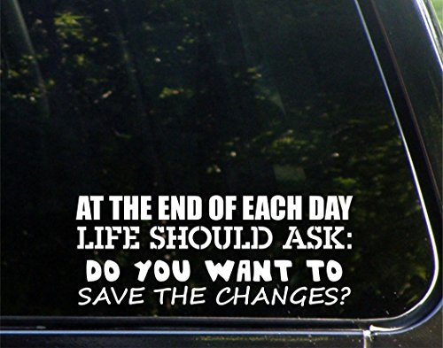 At The End Of Each Day Life Should Ask: Do You Want To Save The Changes? - 8-3/4