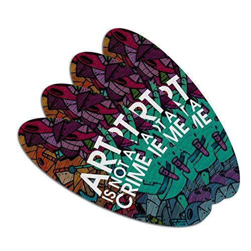 Art Is Not A Crime Graffiti Double-Sided Oval Nail File Emer