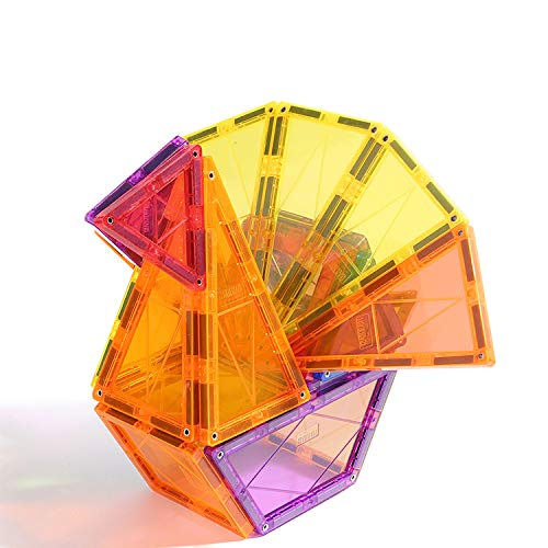 KUHU Magnetic Assembly Toy Light Magnetic Building Blocks Color Window Magnetic Piece Children Assembled Toys by KUHU (Image #4)