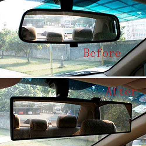 GOGOLO Car Universal Super Wide Angle 12 Curve Interior Clip-On Rear View Mirror Panoramic Shatterproof Baby Seat Car Mirror