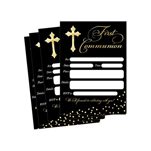 50 First Communion Invitations, 1st First Communion Invites, Holy Communion Invitation (First Communion Invites)