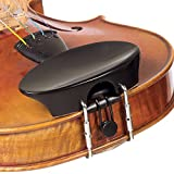 Flat Flesch 1/2 Violin Chinrest - Ebony with Standard Bracket