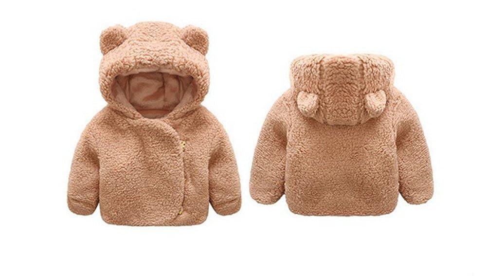 EGELEXY Infant Baby Winter Warm Hooded Fleece Jacket Children Baby Coat Outerwear