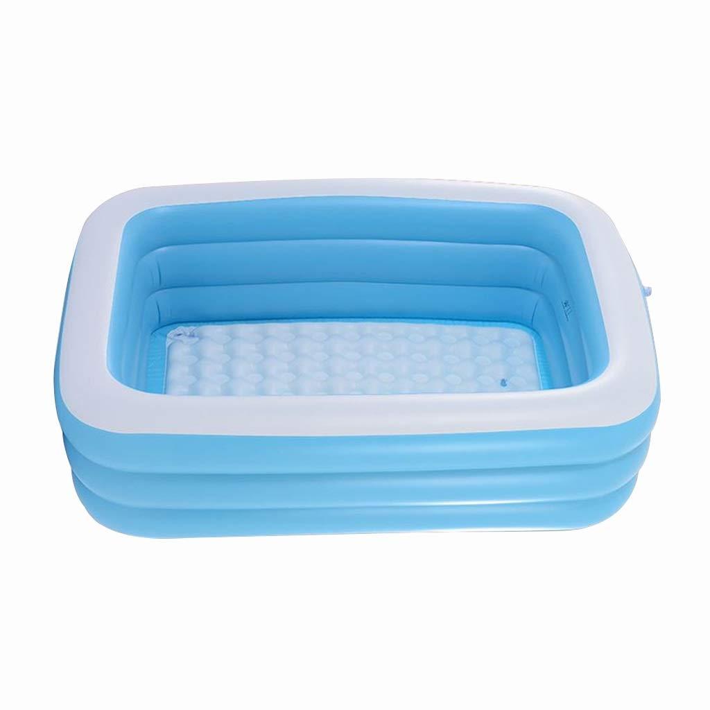 bluee 1109046cm Xi Man Shop Household Bathtub Double Inflatable Bathtub Couple Bath Barrel Winter Adult Thickening Bath Barrel Folding Bath Barrel (color   bluee, Size   130  90  48cm)